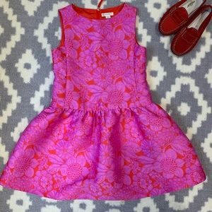 Girls 7 CrewCuts Red and Purple party dress